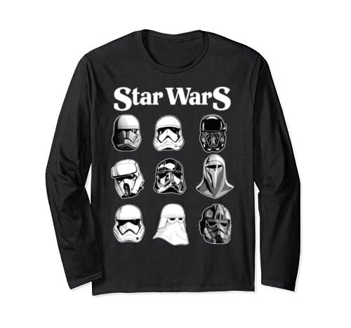 Star Wars Storm Trooper Helmets Poster Long Sleeve T Shirt