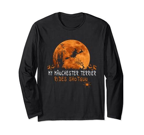 Manchester Terrier Halloween Costume Shirt Cute Terrier Tee Long Sleeve T Shirt
