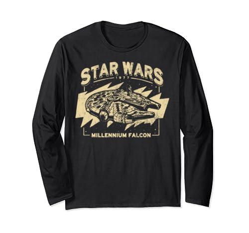 Star Wars Millennium Falcon 1977 Golden Portrait Long Sleeve T Shirt