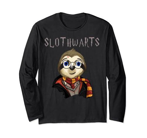 Funny Slothwarts Potter Shirt / Cut Sloth Halloween Costume Long Sleeve T Shirt
