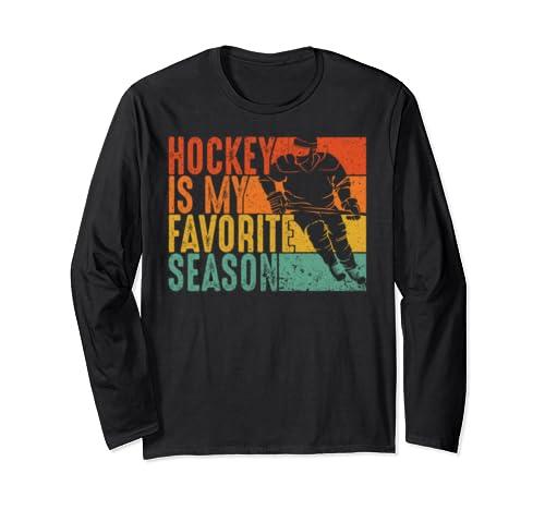 Vintage Hockey Is My Favorite Season  Long Sleeve T Shirt