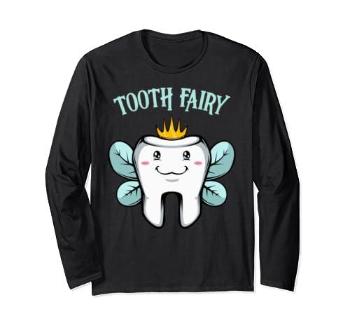 Tooth Fairy Halloween Costume Fantasy Figure Baby Teeth Long Sleeve T Shirt