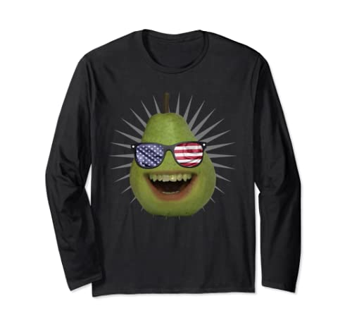 Annoying Orange 4th Of July Patriot Pear Pullover  Long Sleeve T Shirt