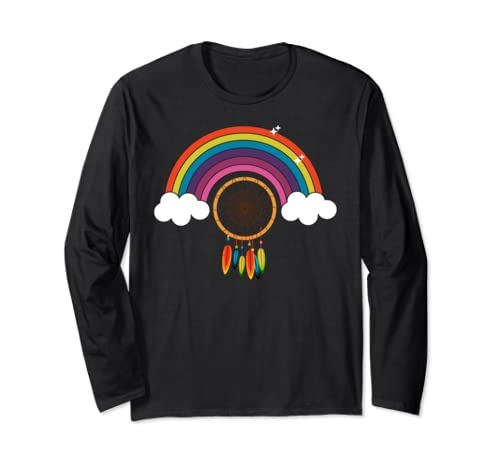 Peace Sign Love 60s 70s Tie Dye Hippie Costume Tee Gift Long Sleeve T Shirt