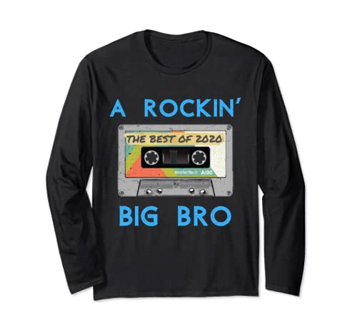 Rockin Big Bro Since 2020 New Brother Gift  Long Sleeve T Shirt