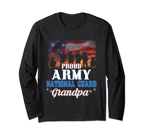 Proud Army Grandpa Tee Gift Army National Guard Grandpa Long Sleeve T Shirt
