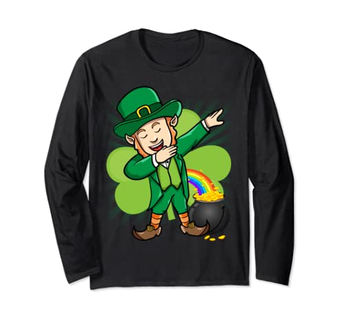 Dabbing Leprechaun St Patricks Day Long Sleeve T Shirt