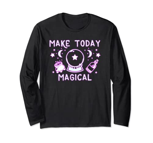 Make Today Magical   Cute Witch Halloween Long Sleeve T Shirt