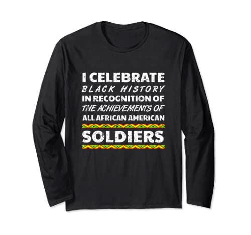 Soldier Black History Month Africa Roots Ancestry 2020 Long Sleeve T Shirt