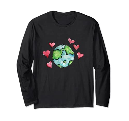 Earth Day Love Love Our Mother Earth  Long Sleeve T Shirt