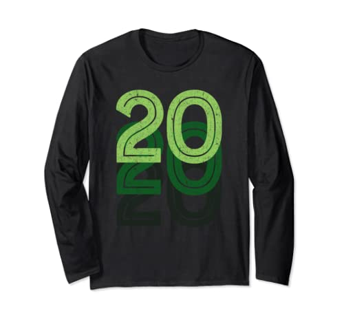 20th Birthday Lucky Number 20 Sports Team Birth Age Year Long Sleeve T Shirt