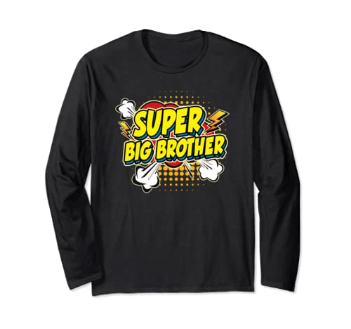 Super Awesome Matching Superhero Big Brother  Long Sleeve T Shirt