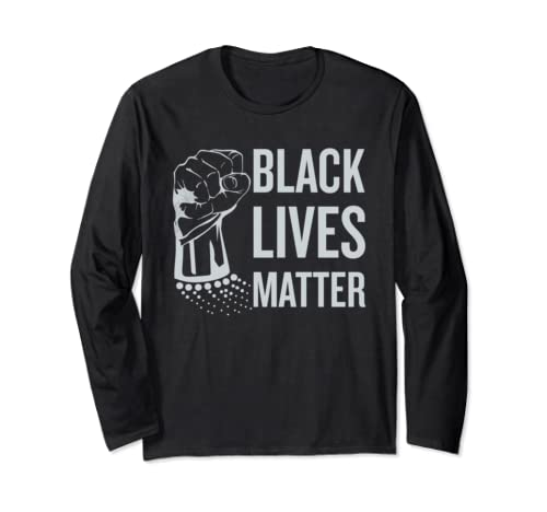 Black Lives Matter  With Unique Fist Graphic Long Sleeve T Shirt