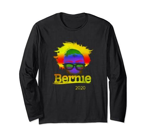 Colorful Bernie Sanders 2020 Democrat Bern For Usa President Long Sleeve T Shirt