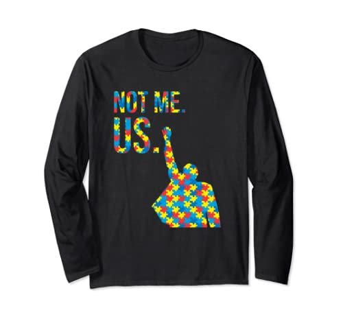 Bernie Sanders Autism Cause Support 2020 Not Me Us Fathering Long Sleeve T Shirt