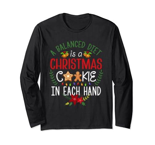 Christmas Diet Christmas Baking   Christmas Cookies T Shirt Long Sleeve T Shirt