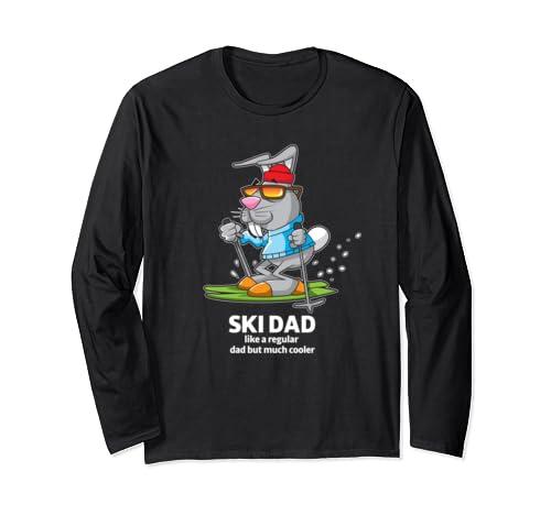 Ski Dad Matching Family Skiing Vacation Winter Holiday Gift Long Sleeve T Shirt