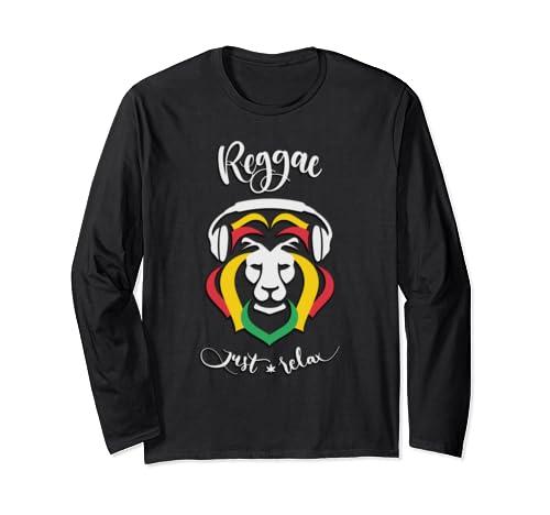 Marley Rasta Reggae Just Relax For Bob Lover Long Sleeve T Shirt
