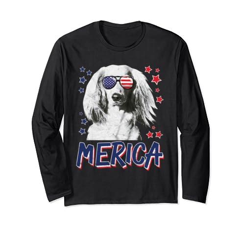 Merica Dachshund Dog 4th Of July Usa Gift Long Sleeve T Shirt