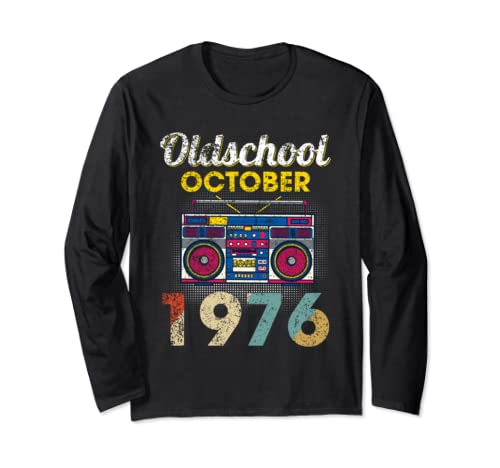 Made In October 1976 43rd Awesome Birthday   Long Sleeve T Shirt