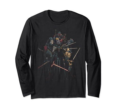 Star Wars Group Shot Villain Portrait Long Sleeve T Shirt