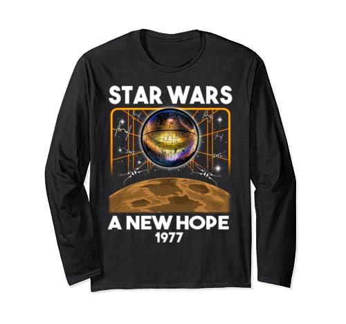 Star Wars A New Hope 1977 Death Star Long Sleeve T Shirt