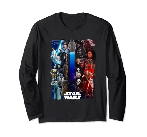 Star Wars Group Shot Divided Forces Poster Long Sleeve T Shirt