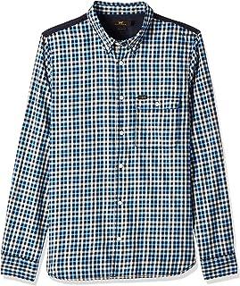 Lee Men's BUTTON DOWN VAR COLOR BLOCK Men's Casual Shirts