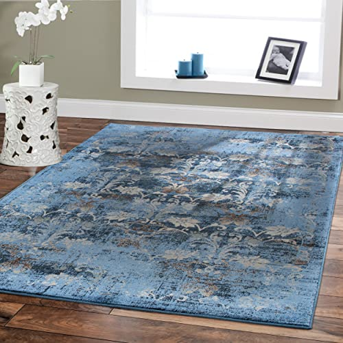 Blue And Brown Area Rugs Amazon Com
