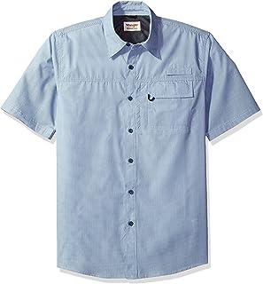 24343edda2 Wrangler Mens Big   Tall Short Sleeve Utility Shirt Button-Down Shirt