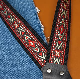Trophy CHEYENNE Cotton USA made A & F style Mandolin Strap