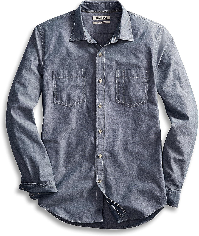 Goodthreads Men's Slim-Fit Long-Sleeve Double Pocket Work Shirt