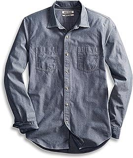 Goodthreads Mens Slim-Fit Long-Sleeve Double Pocket Work Shirt