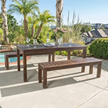 Best long wooden outdoor dining table Reviews