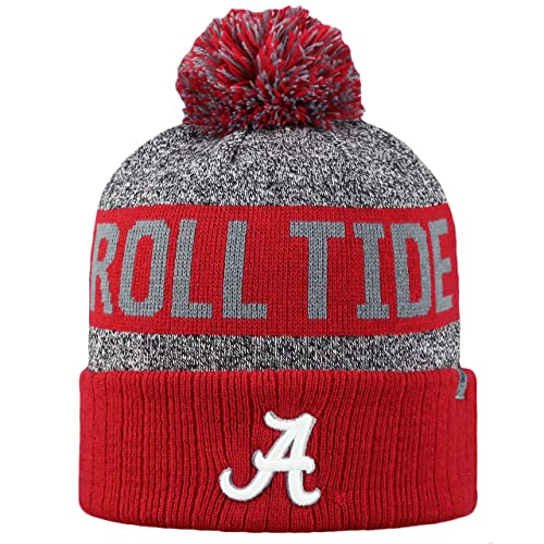 finest selection 491a5 c6202 Top of the World NCAA Arctic Striped Cuffed Knit Pom Beanie Hat