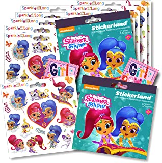 Shimmer and Shine Party Favors Stickers Set Bundled with Separately Licensed Specialty GWW Reward Stickers