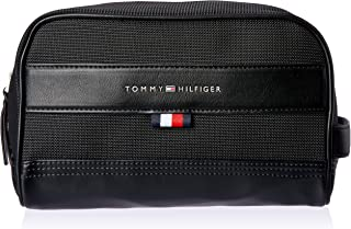 Tommy Hilfiger Unisex Tailored Zip Washbag, Black