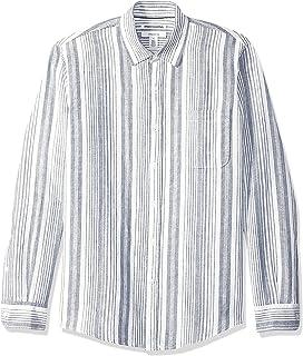 da uomo a maniche lunghe vestibilit/à regolare Camicia casual in popeline Essentials