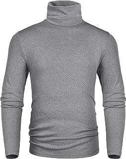Men's Slim Fit Soft Turtleneck Long Sleeve Pullover Thermal T-Shirt