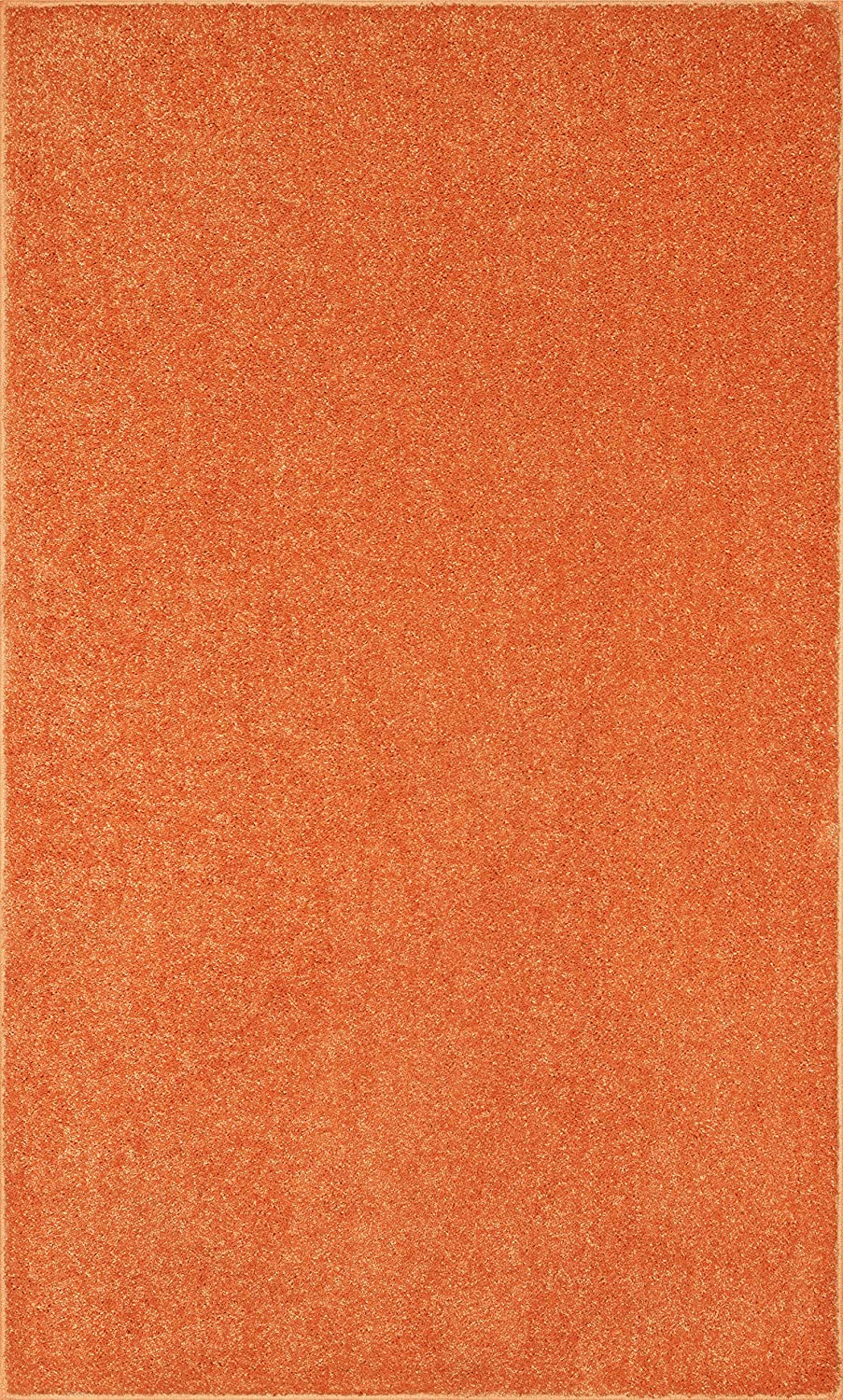 Bright House Solid Color Custom Size Area 2'6 Orange Sales Detroit Mall Runner Rug