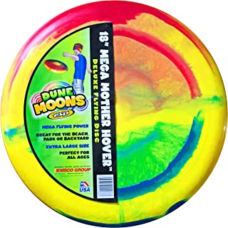 "Emsco Group ESP Dune Moons Deluxe Aerodynamic Flying Discs - MEGA Mother Hover Super Sized 18"" Diameter Large Flying Disc Frisbee"