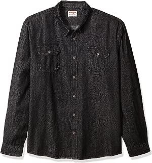 Wrangler Authentics Men's Big and Tall Authentics Big & Tall Long Sleeve Classic Woven Shirt