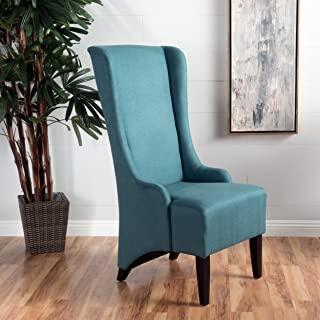 Christopher Knight Home 299946 Callie Fabric Dining Chair, Teal
