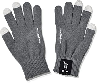 New Bluetooth Gadget Gloves Allow You to Talk to The Hand. Literally! Bluetooth Gloves - Microphone Built Into The Pinkie and Speaker Built Into The Thumb - Touch Screen Compatible (Grey-Large)