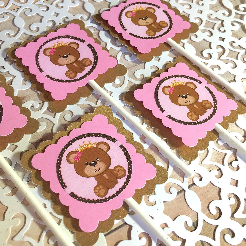 TEDDY BEAR Cupcake toppers - supreme set Bear 12 Teddy of par low-pricing Birthday