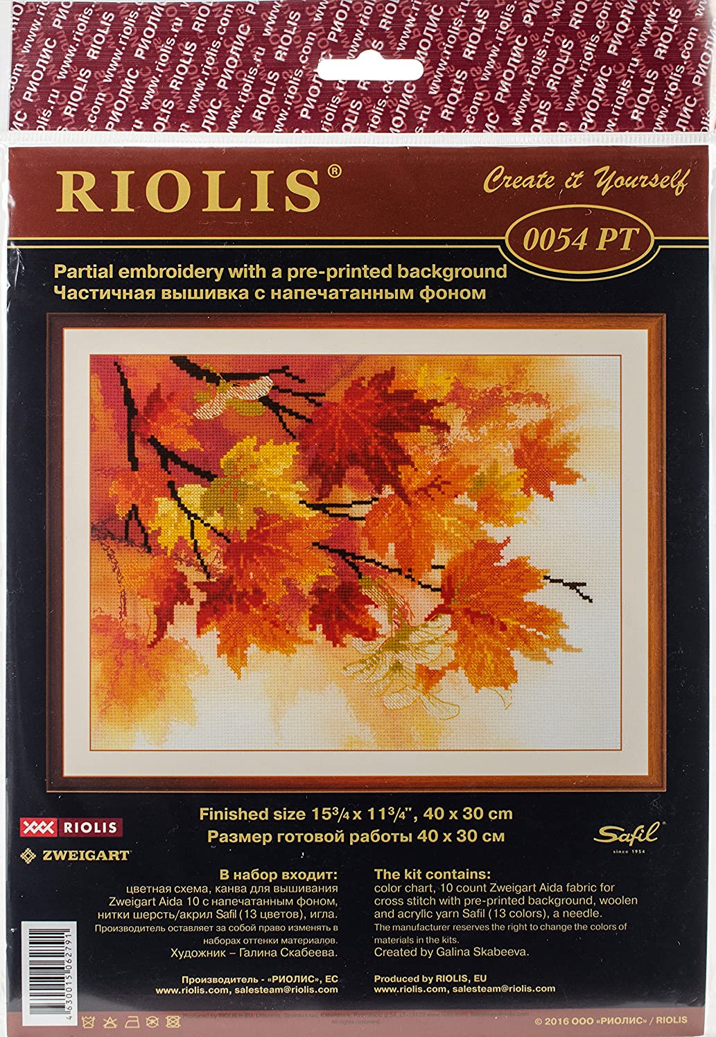 RIOLIS R0054PT Stamped Cross Stitch Kit 15.75