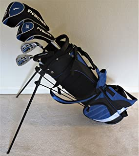 Boys Right Handed Junior Golf Club Set with Stand Bag for Kids Ages 8-12 Blue Color Premium Jr. Professional Quality