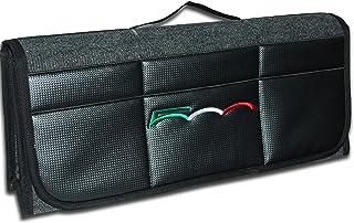 Bulmar - Organizador de lujo para maletero de coche con estampado de fibra de carbono en la parte delantera, inspirado en Fiat 500