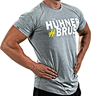 Satire Gym Fitness Men's T-Shirt - Functional Sport Clothing with Satire Character - Various Colours & Designs - Suitable for Workout, Training - Slim Fit