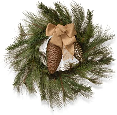 National Tree 30 Inch Wreath with Gold Ribbon (RAC-W060658A)